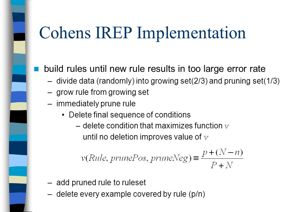 Cohens IREP Implementation