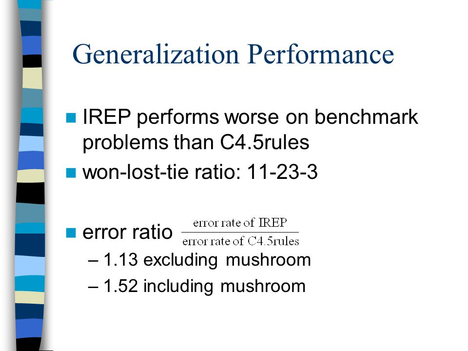Generalization Performance