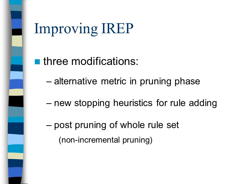 Improving IREP three modifications: