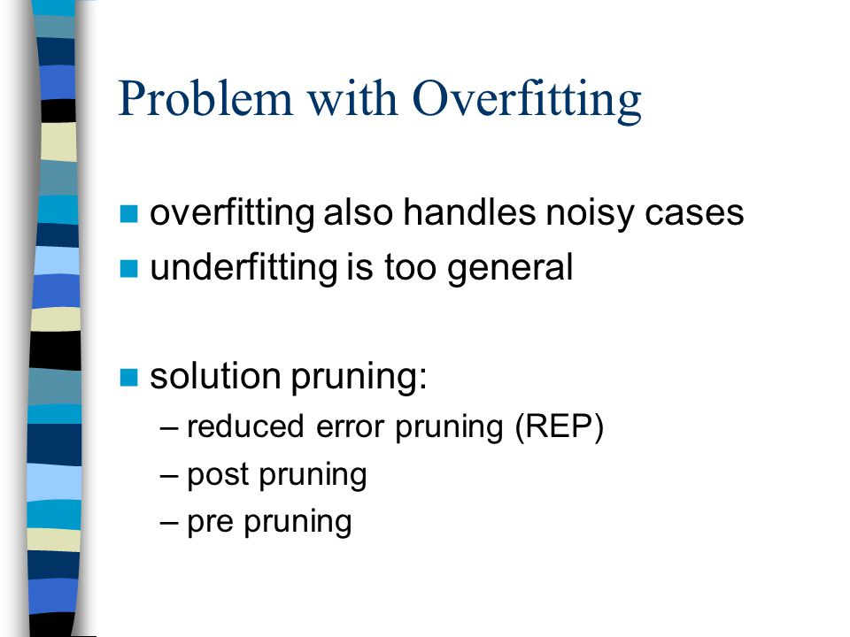 Problem with Overfitting