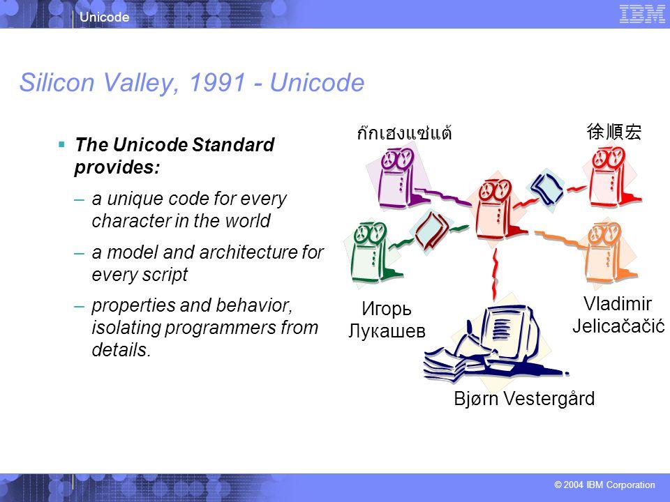 Silicon Valley, 1991 - Unicode