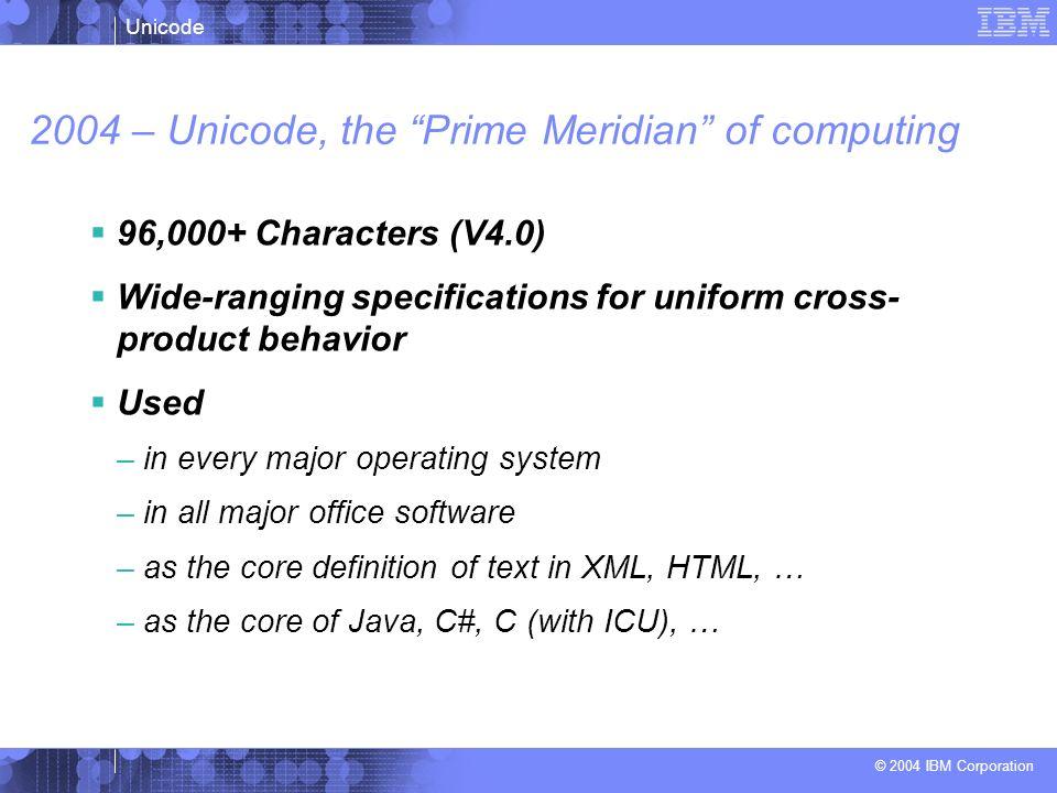2004 – Unicode, the Prime Meridian of computing