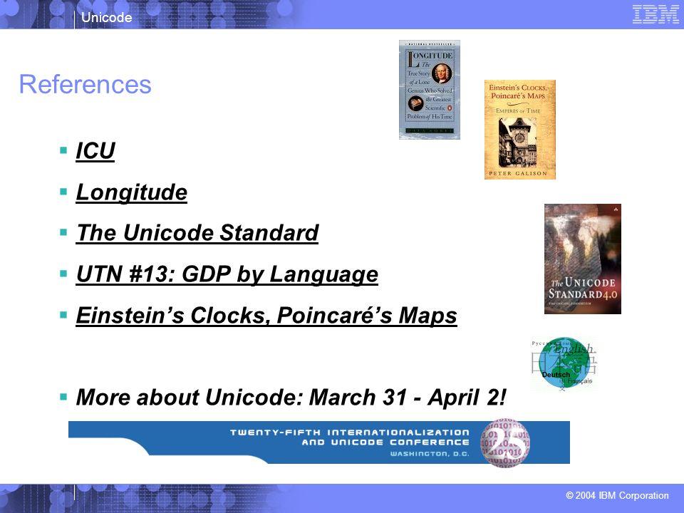 References ICU Longitude The Unicode Standard UTN #13: GDP by Language