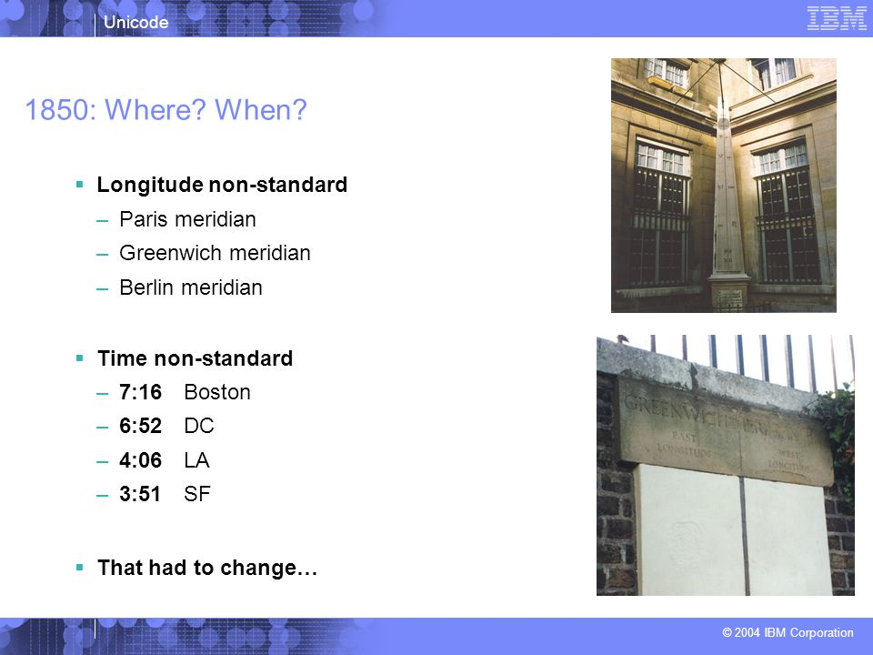 1850: Where When Longitude non-standard Paris meridian