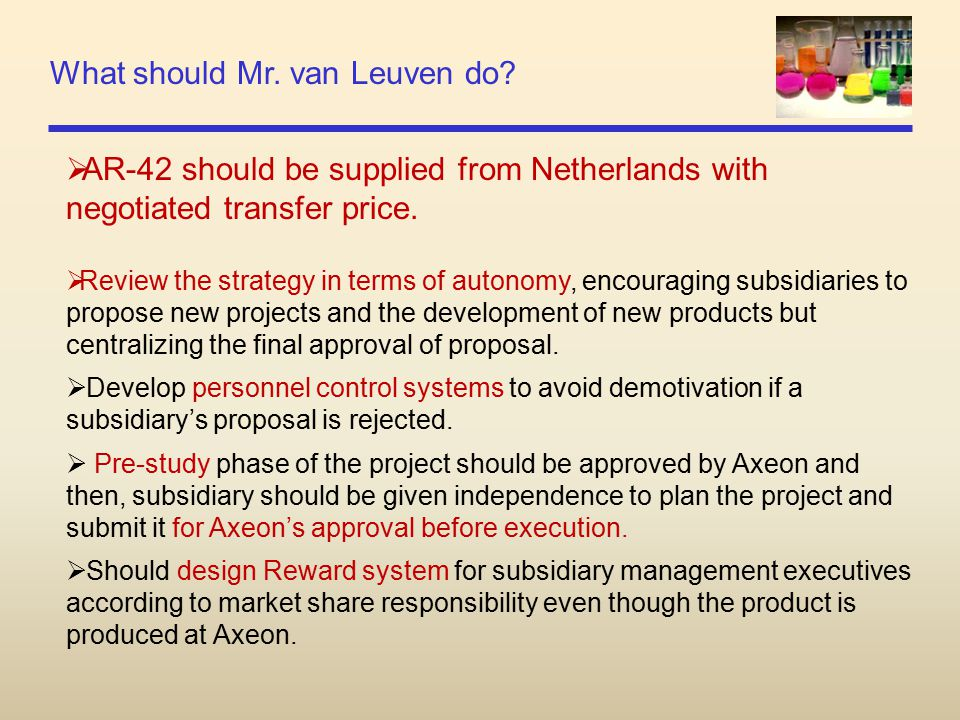 What should Mr. van Leuven do