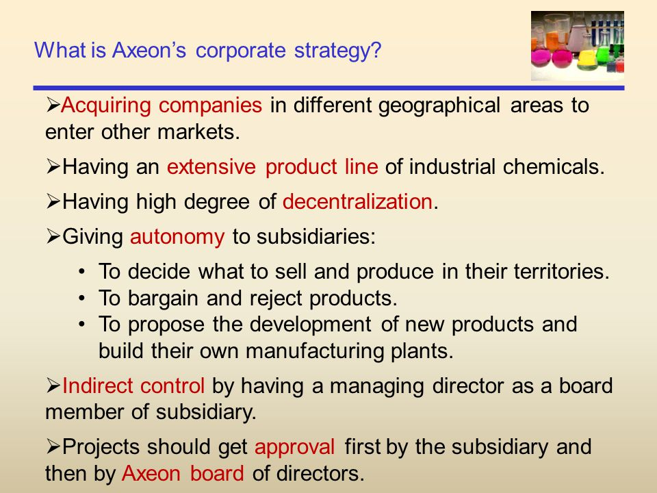 What is Axeon's corporate strategy