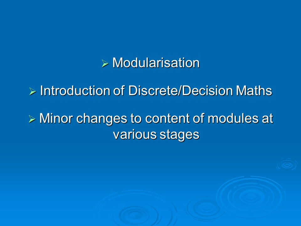 Introduction of Discrete/Decision Maths