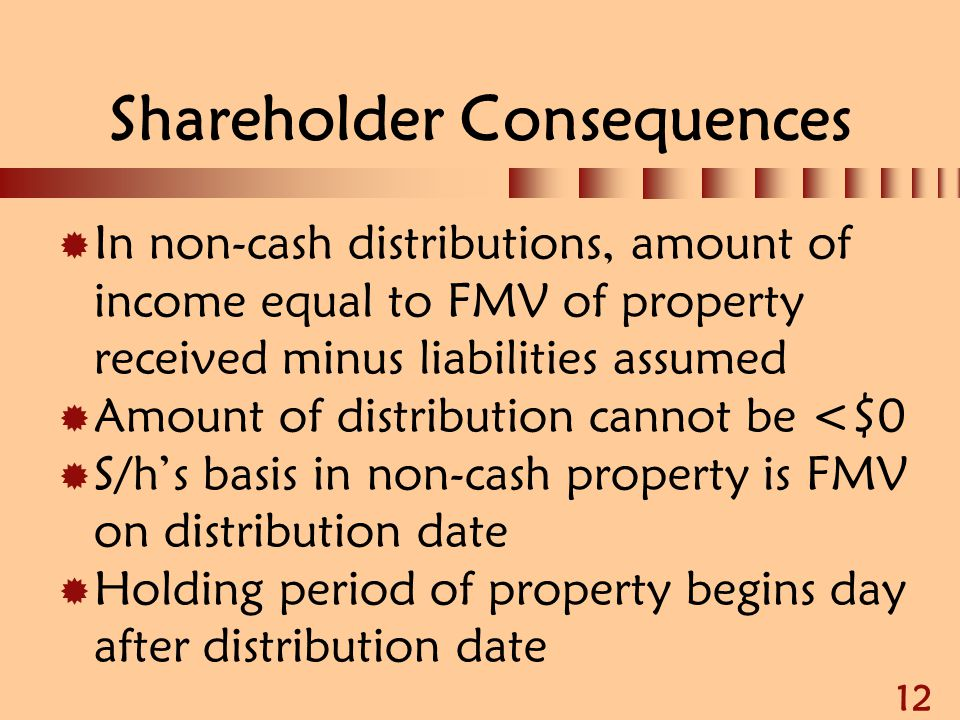 Shareholder Consequences