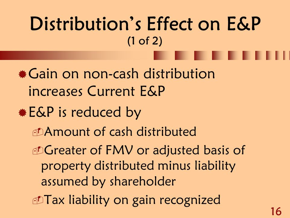 Distribution's Effect on E&P (1 of 2)