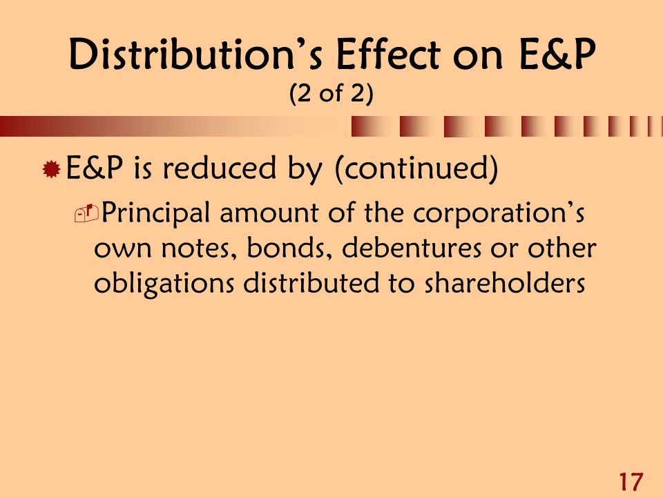 Distribution's Effect on E&P (2 of 2)