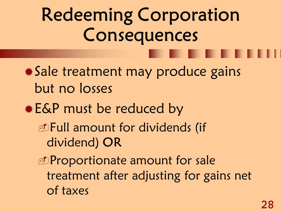Redeeming Corporation Consequences