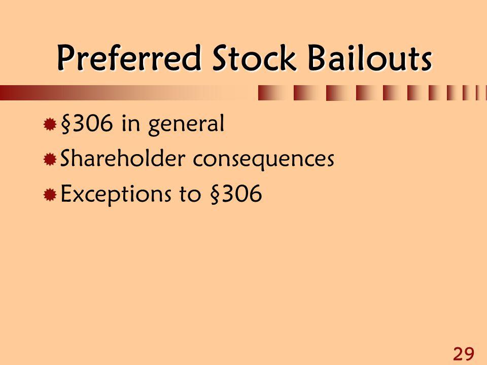 Preferred Stock Bailouts