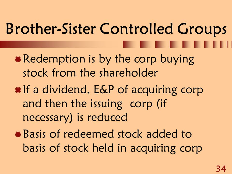 Brother-Sister Controlled Groups