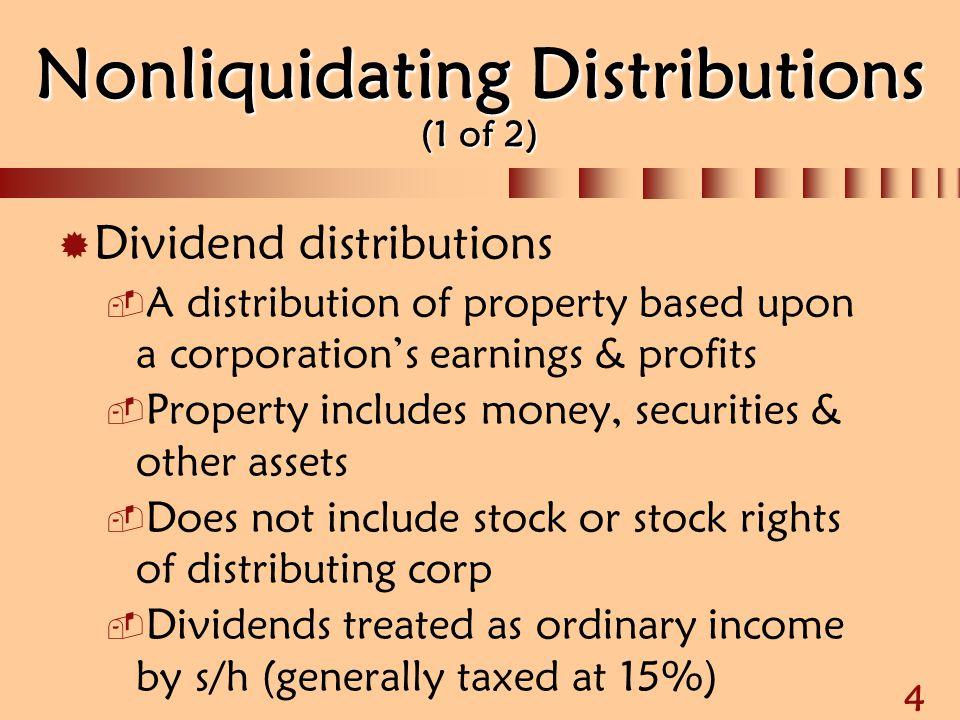 Nonliquidating Distributions (1 of 2)