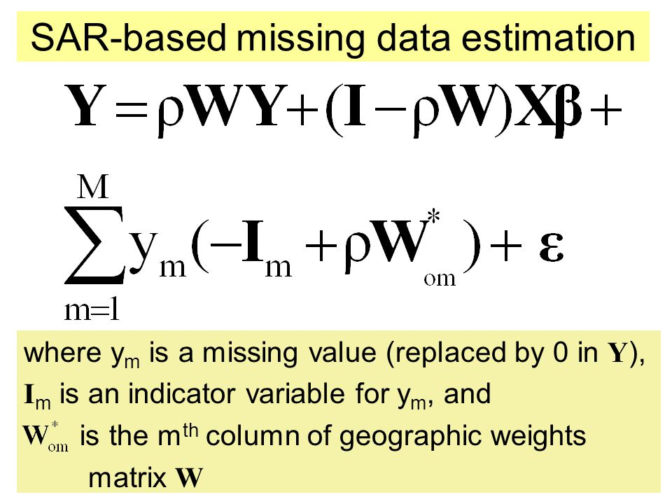 SAR-based missing data estimation