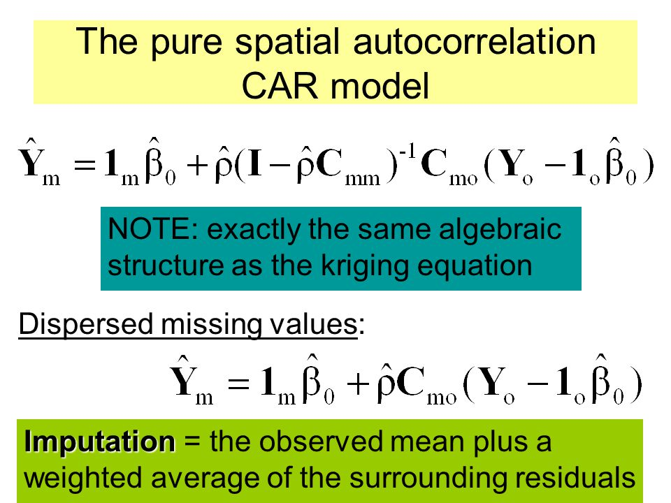 The pure spatial autocorrelation CAR model