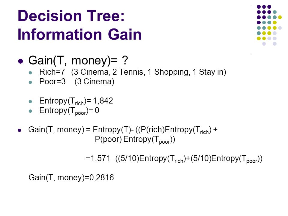 Decision Tree: Information Gain