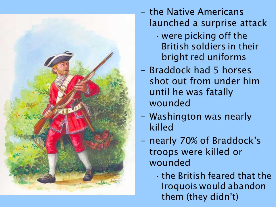 the Native Americans launched a surprise attack