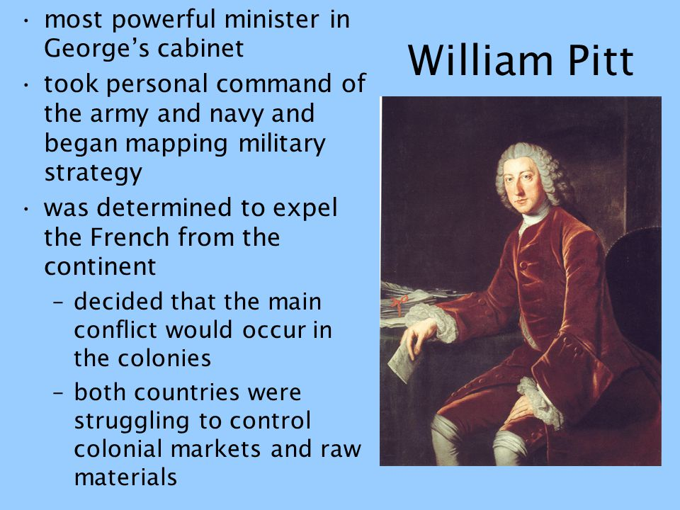 William Pitt most powerful minister in George's cabinet
