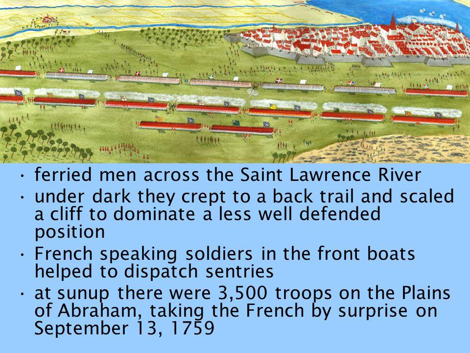 ferried men across the Saint Lawrence River