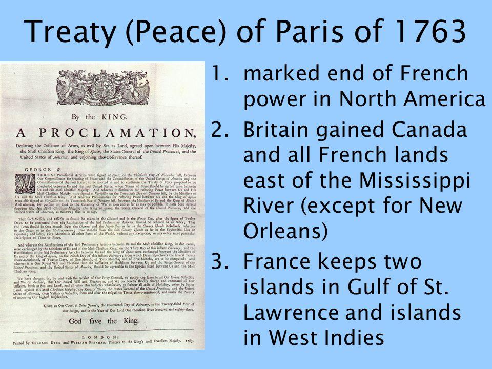 Treaty (Peace) of Paris of 1763