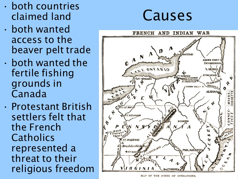 Causes both countries claimed land