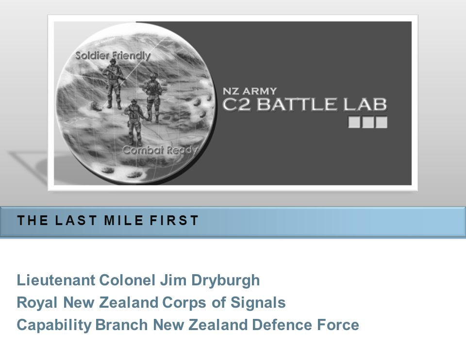 Lieutenant Colonel Jim Dryburgh Royal New Zealand Corps of Signals