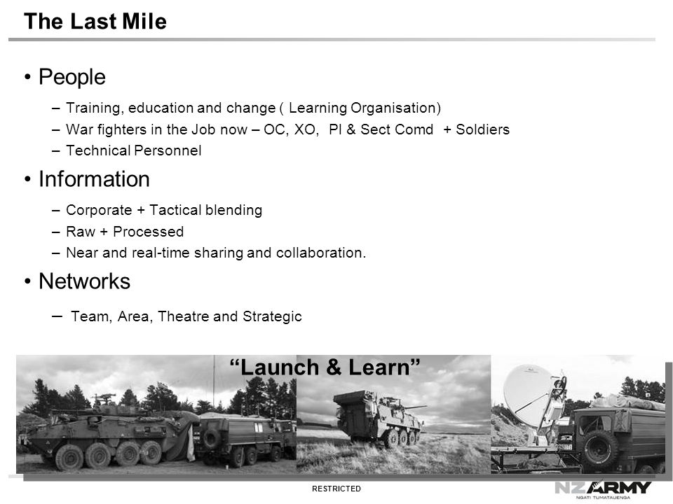 The Last Mile People Information Networks Launch & Learn