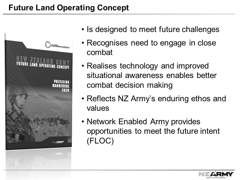 Future Land Operating Concept