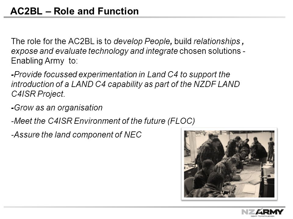 AC2BL – Role and Function