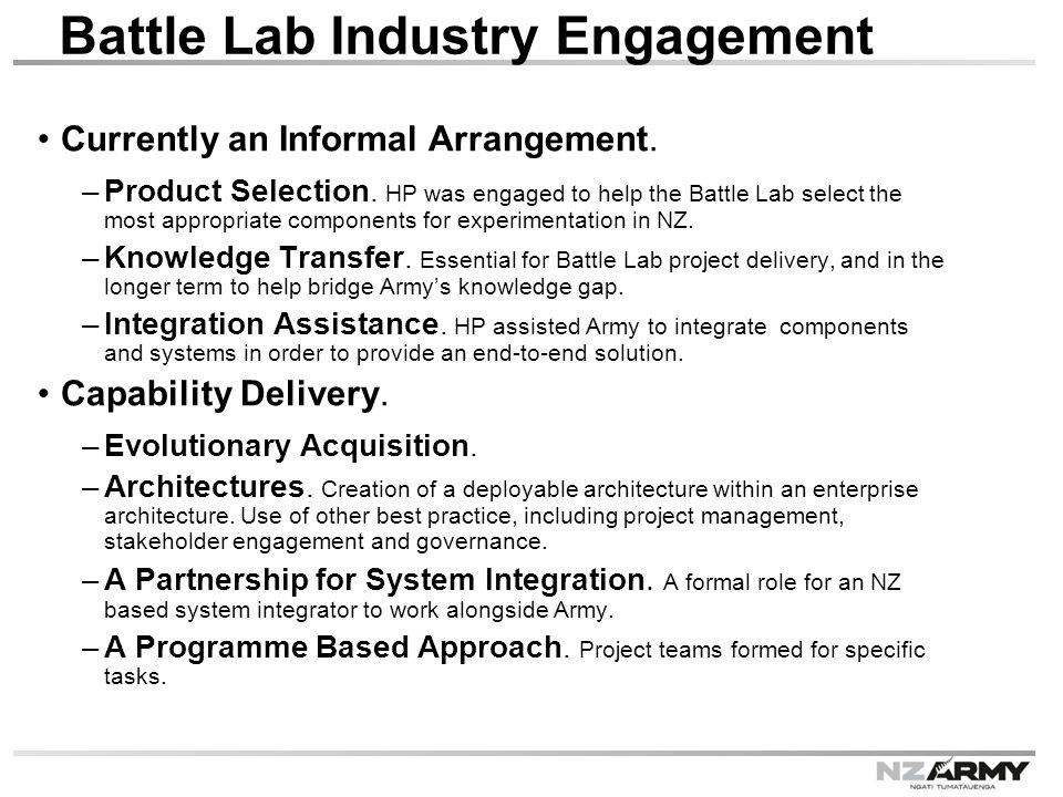 Battle Lab Industry Engagement