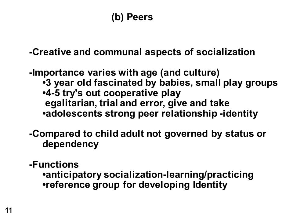 -Creative and communal aspects of socialization