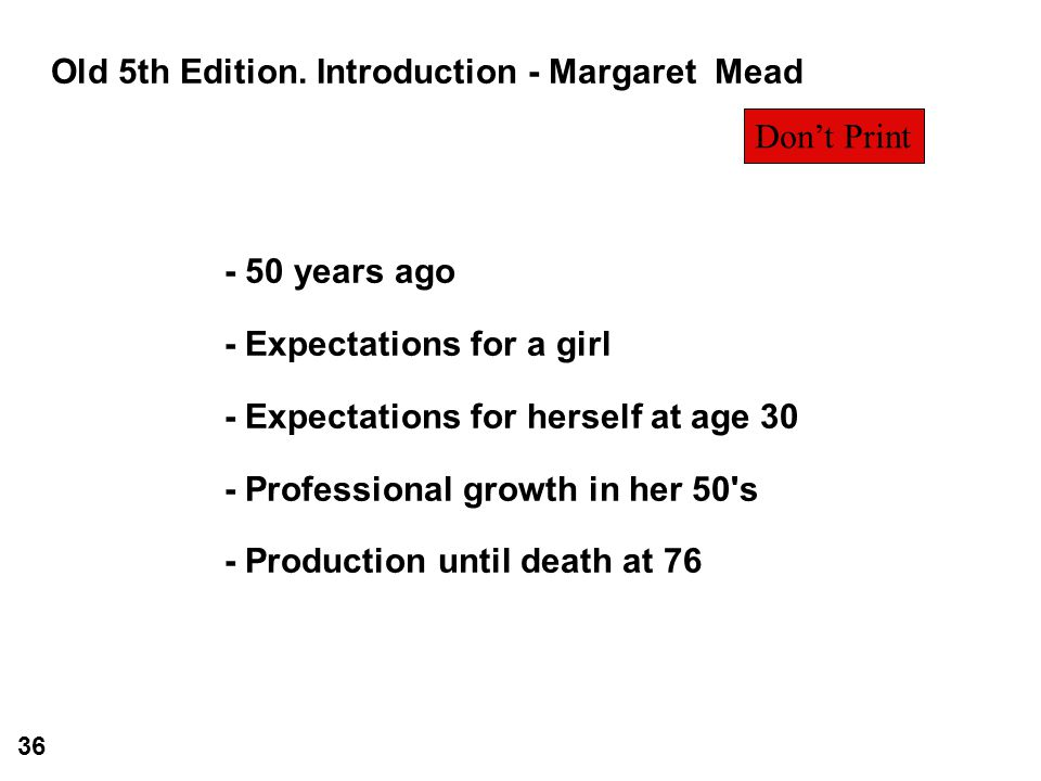 Old 5th Edition. Introduction - Margaret Mead