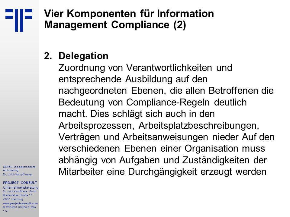 Vier Komponenten für Information Management Compliance (2)