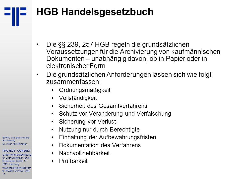HGB Handelsgesetzbuch