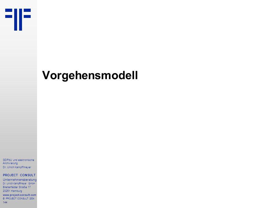 Vorgehensmodell PROJECT CONSULT Unternehmensberatung