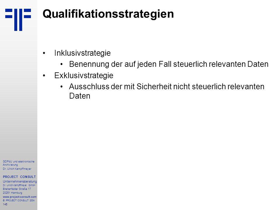 Qualifikationsstrategien