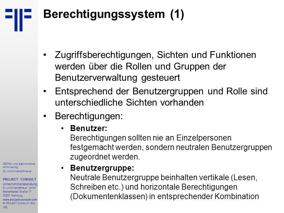 Berechtigungssystem (1)