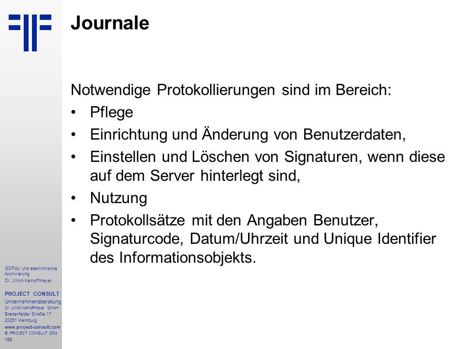 Journale Notwendige Protokollierungen sind im Bereich: Pflege
