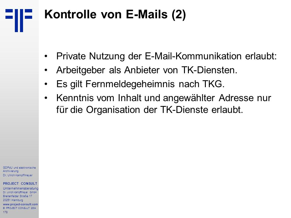 Kontrolle von E-Mails (2)