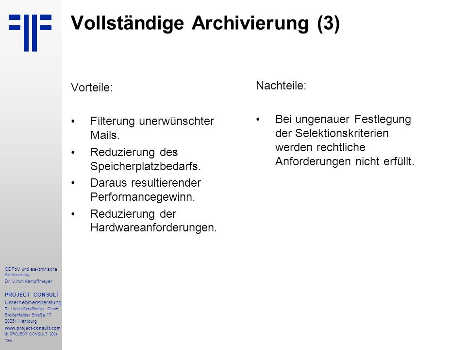 Vollständige Archivierung (3)