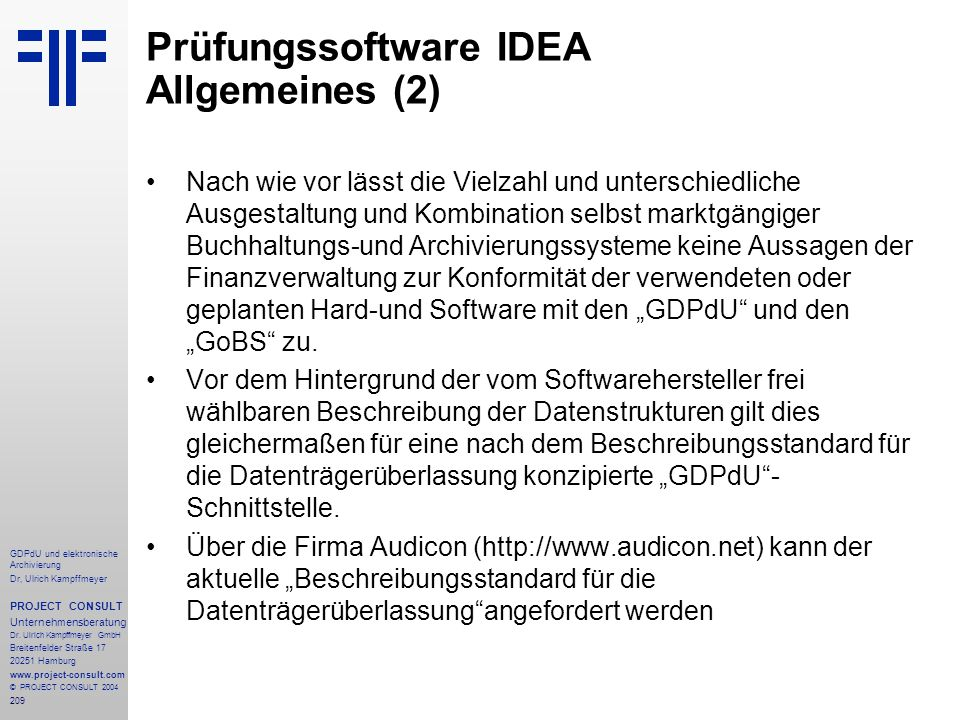 Prüfungssoftware IDEA Allgemeines (2)