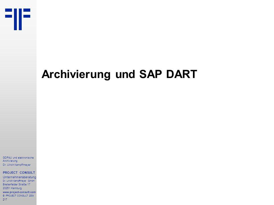 Archivierung und SAP DART