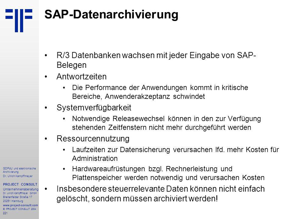 SAP-Datenarchivierung