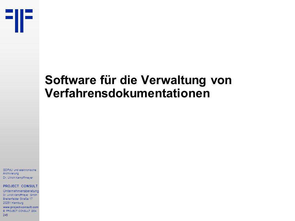 Software für die Verwaltung von Verfahrensdokumentationen
