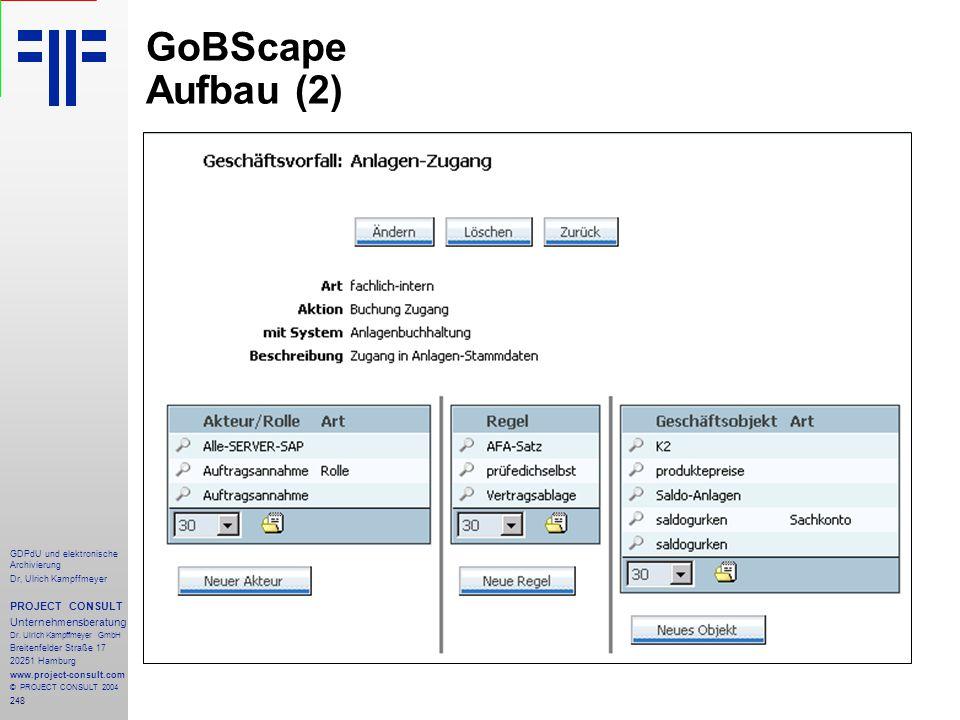 GoBScape Aufbau (2) PROJECT CONSULT Unternehmensberatung