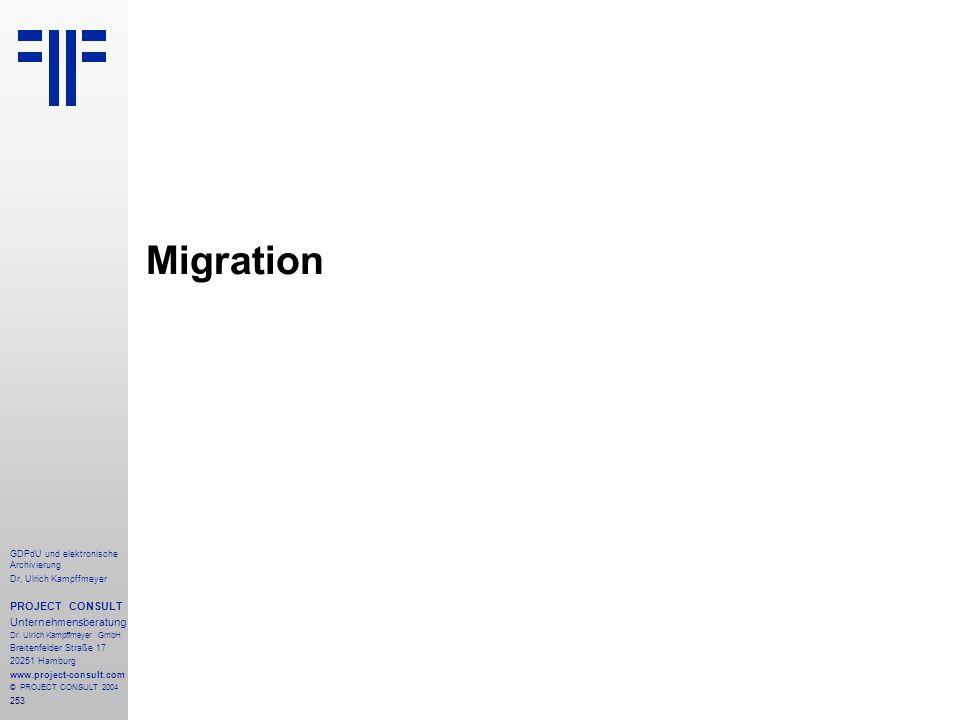 Migration PROJECT CONSULT Unternehmensberatung