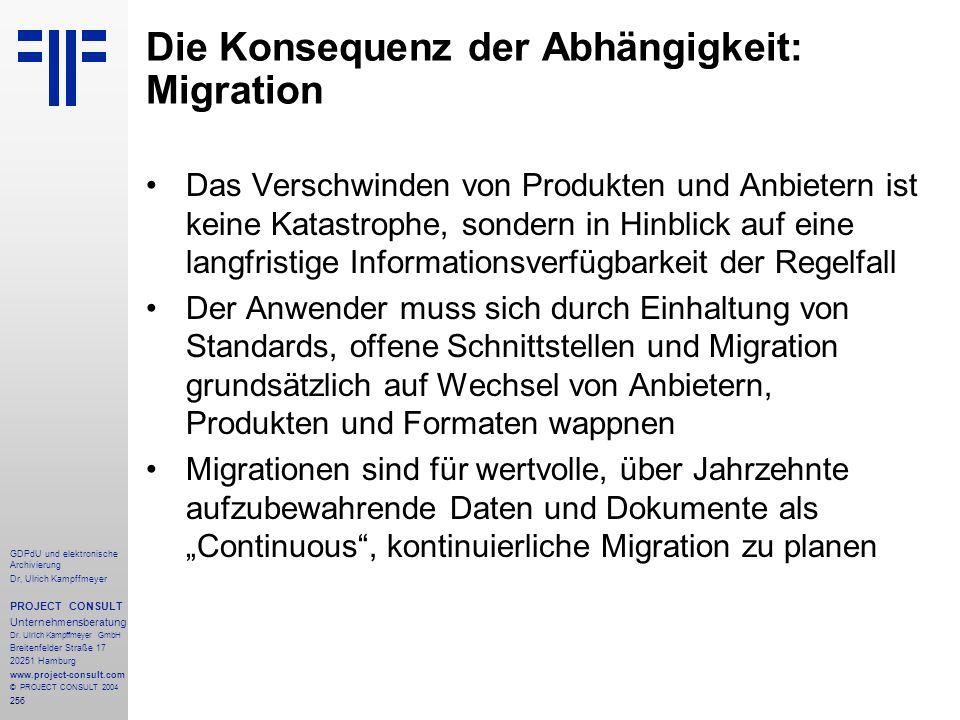 Die Konsequenz der Abhängigkeit: Migration