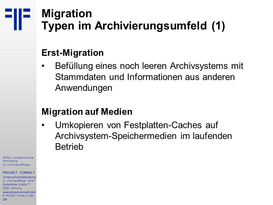 Migration Typen im Archivierungsumfeld (1)