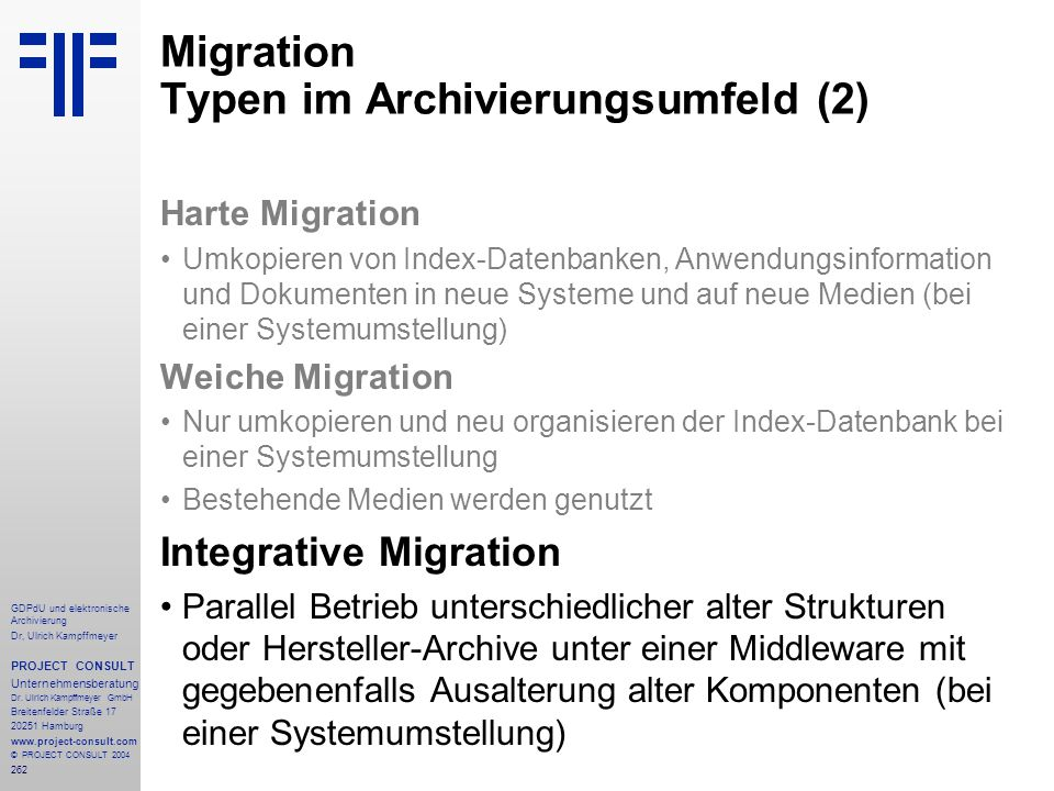 Migration Typen im Archivierungsumfeld (2)